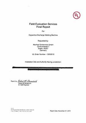 Manfred Schlemmer GmbH | UL Zertifizierung